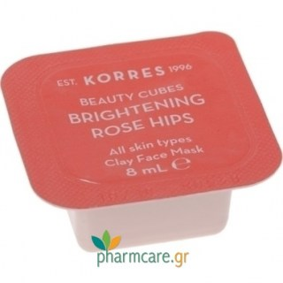Korres Beauty Cubes Clay Mask Προσώπου με Rose Hips για Λάμψη 8ml