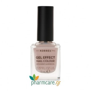 Korres Gel Effect Nail Colour Βερνίκι Νυχιών 31 Sandy Nude 11ml