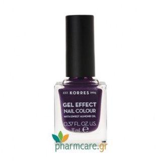 Korres Gel Effect Nail Colour Βερνίκι Νυχιών 75 Violet Garden 11ml