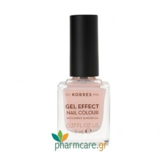 Korres Gel Effect Nail Colour Βερνίκι Νυχιών 04 Peony Pink 11ml