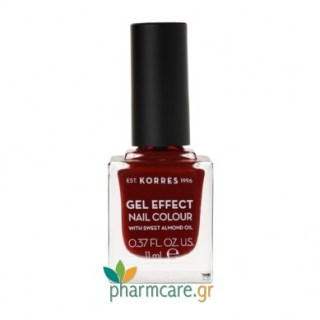 Korres Gel Effect Nail Colour Βερνίκι Νυχιών 59 Wine Red 11ml