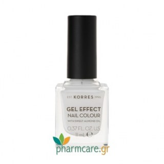 Korres Gel Effect Nail Colour Βερνίκι Νυχιών 01 Blanc White11ml