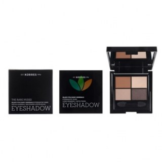 Korres Black Volcanic Minerals Eyeshadow Quad Σκιά Ματιών The Bare Nudes 5g