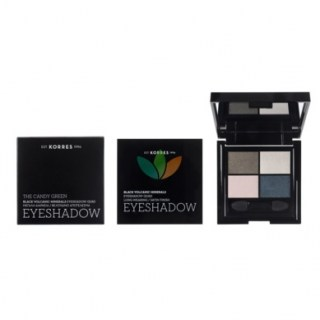 Korres Black Volcanic Minerals Eyeshadow Quad Σκιά Ματιών The Candy Green 5g