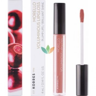 Korres Morello Voluminous Lipgloss 04 Honey Nude Εξαιρετική Λάμψη 4ml