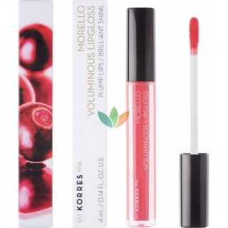 Korres Morello Voluminous Lipgloss 42 Peachy Coral Εξαιρετική Λάμψη 4ml