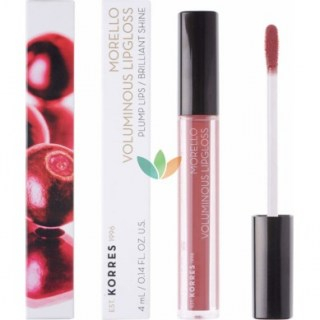 Korres Morello Voluminous Lipgloss 23 Natural Purple Εξαιρετική Λάμψη 4ml