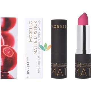 Korres Morello Matte Lipstick 75 Strawberry Fields Ματ Κραγιόν με Κρεμώδη Υφή 3.5ml