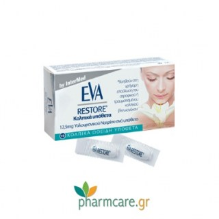 Eva Restore Ovules Κολπικά Υπόθετα με Υαλουρονικό Οξύ (10 Υπόθετα)