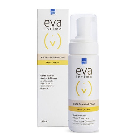 Intermed Eva Intima Bikini Shaving Foam Depilation Απαλός Αφρός Ξυρίσματος 150ml