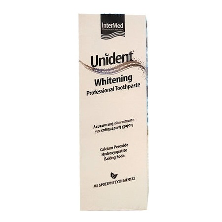 Intermed Unident Whitening Toothpaste Λευκαντική Δδοντόπαστα με Μέντα 100ml