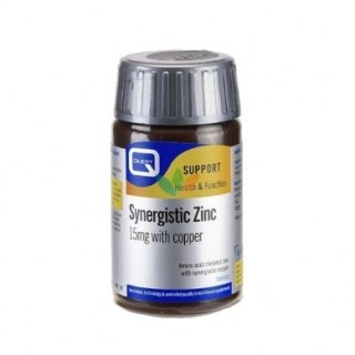 Quest Synergistic Zinc 15mg with copper 30 ταμπλέτες
