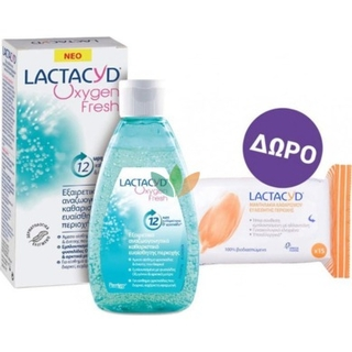 Lactacyd Oxygen Fresh Wash 200ml & ΔΩΡΟ Intimate Wipes15 τεμάχια