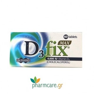 Uni-Pharma D3 Fix Max 4000IU Vitamin D3 60tabs