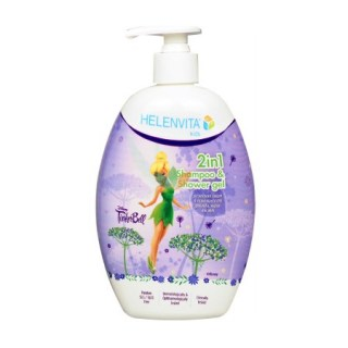 Helenvita Kids TinkerBell 2 in 1 Shampoo & Shower Gel Ήπιο Σαμπουάν & Αφρόλουτρο 500ml