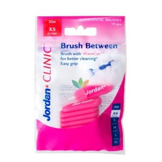 Jordan Clinic Brush Between Interdental Brushes XS Μεσοδόντια Βουρτσάκια 10τμχ