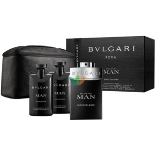 Bvlgari Perfume For Men Black Set Gift Cologne Eau de Toilette & AfterShave Balsam & Shower Gel