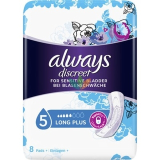 Always Discreet for Sensitive Bladder Σερβιέτες Ακράτειας Long Plus 8τμχ