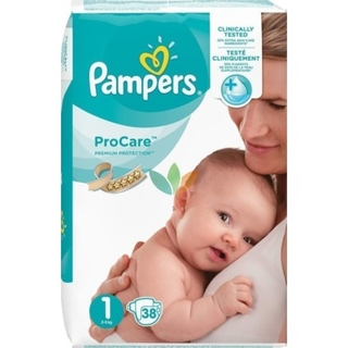 Pampers Procare Premium Protection No.1 (newborn) 2-5 Kg Βρεφικές Πάνες 38 τεμάχια