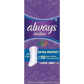 Always Dailies Extra Protect Σερβιετάκια Large 26τμχ