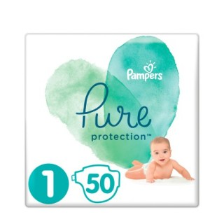 Pampers Pure Protection No 1 (2-5kg) Βρεφικές Πάνες 50 τεμάχια