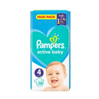 Pampers Active Baby Maxi Pack No4 (9 - 14kg) 58 τεμάχια