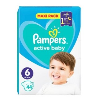 Pampers Active Baby Maxi Pack No 6 (13-18kg) Βραφικές Πάνες  44 τεμάχια