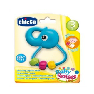 Chicco Baby Senses Κουδουνίστρα Ελεφαντάκι από 3+ μηνών 1 τεμάχιο