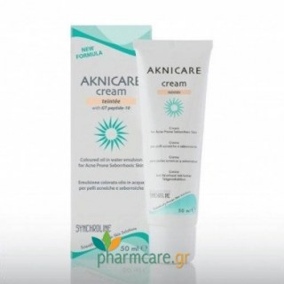 Synchroline Αknicare Cream teintee clair with GT peptide-10 50ml