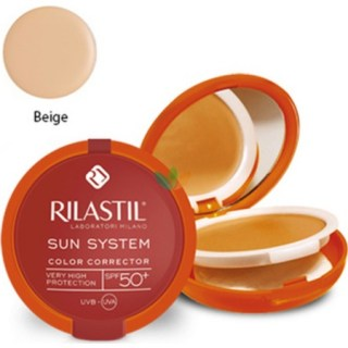 Rilastil Sun System Color Corrector 01 Beige SPF50+ Κρεμώδες Compact Foundation 10g