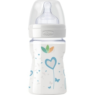 Chicco Μπιμπερό Well Being Nature Glass από 0m+ 0% ΒPA με Θηλή Σιλικόνης 150ml
