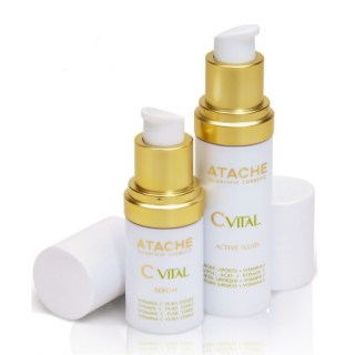 Atache C Vital Set Active Serum 15ml + Fluid Αντιγηραντική Δράση 30ml