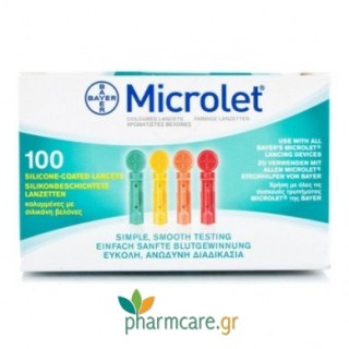 Bayer Microlet 100 Lancets Colored