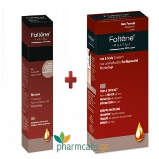 Foltene Hair & Scalp Treatment Men Αμπούλες 12x8,3ml & Τhinning Hair Shampoo 200ml