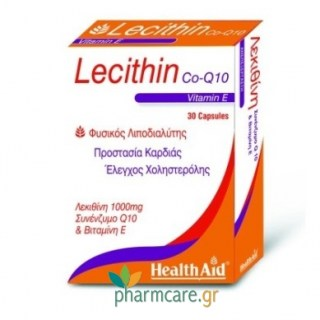 Health Aid Lecithin 1000mg - Co Q10 & Vitamin E 30caps