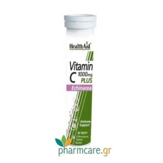 Health Aid Vitamin C 1000Mg + Echinacea - Lemon 20tabs