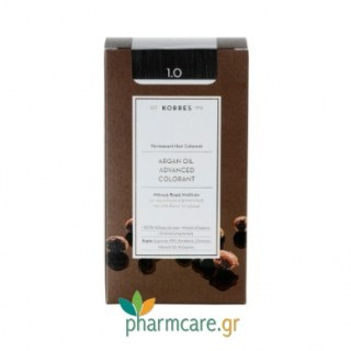 Korres Argan Oil Advanced Colorant 1.0 Μαύρο Φυσικό 50ml