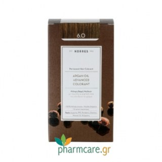 Korres Argan Oil Advanced Colorant 6.0 Ξανθό Σκούρο Φυσικό 50ml