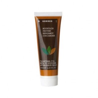 Korres Aftershave Balm Mountain Pepper, Bergamont & Coliander, Γαλάκτωμα για Μετά το Ξύρισμα 125 ml
