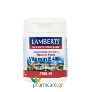 Lamberts Vitamin E 400iu Natural Form 60caps