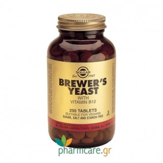 Solgar Brewer's Yeast with Vitamin B-12 tabs 250s