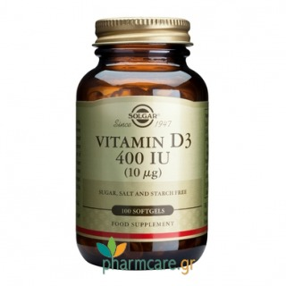 Solgar Vitamin D3 400 IU softgels