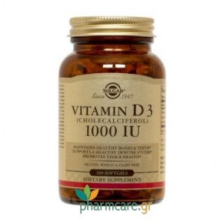 Solgar Vitamin D3 1000 IU softgels softgels 100s