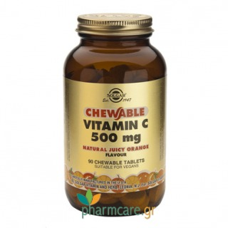Solgar Vitamin C 500mg chewable ORANGE tabs 90s