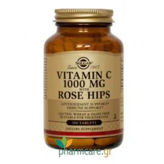 Solgar Vitamin C with Rose Hips 1000mg tabs 100s
