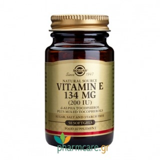 Solgar Vitamin E Natural 200 IU softgels 50s