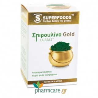 Superfoods Spirulina Gold Eubias 300mg 180 Δισκία